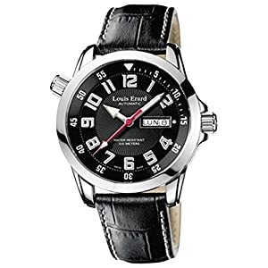 Louis Erard Men's Sportive 42mm Black Leather Band Steel Case Automatic Analog Watch 72430AS02.BDC24