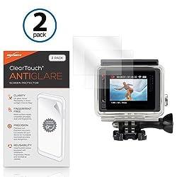 GoPro Hero4 Screen Protector, BoxWave [ClearTouch Anti-Glare (2-Pack)] Anti-Fingerprint Matte Film Skin for GoPro Hero 4