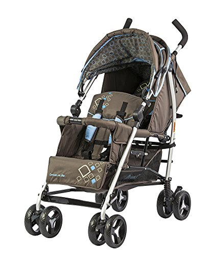 Dream On Me Freedom Tandem Stroller, Brown/Blue, Small