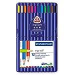 ステッドラー 色鉛筆 エルゴソフト 157SB12 三角軸 12色
