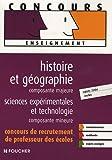 echange, troc Jean-Luc Buchy, Cécile de Hosson, Caroline Millet, Eric Tisserand - HIST-GEO MAJEURE SCIENCES EXPERIMENTALES  (Ancienne édition)