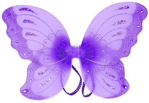 "Jewel Butterfly Fairy Wings (21"") Select Color: purple"