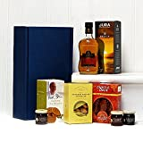 Luxury Jura Whisky Ultimate Gents Delights Gift Hamper - Includes 350ml Jura Origin 10 Year Old Single Malt Scotch Whisky & Treats by Fine Food Store - Gift Ideas for Him, Men, Dad, Husband, Birthday, Wedding Anniversary, Valentines Day