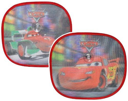 2 tlg. Set Sonnenschutz Disney Cars Lightning McQueen 35 cm * 31 cm - für Seitenscheibe / Sonnenblende für Kinder Auto Mc Queen Autos Sichtschutz Jungen Baby Seitenfenster