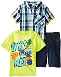 Little Rebels Boys 2-7 3 Pieced DonT Bug Me Short Set