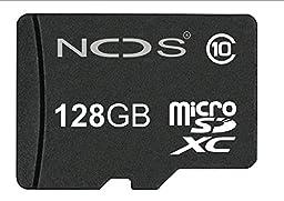 NOS Disk Extreme 128 GB MicroSD SDXC Class 10 Memory Card + (High Speed Adapter) - 128 GB MicroSD SDXC Card Class 10