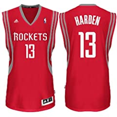 James Harden Youth Houston Rockets Red Replica Basketball Jersey (M=10-12) by adidas