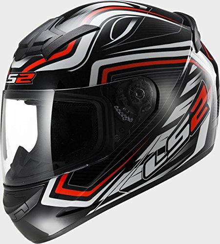 LS2 FF352 Rookie Ranger Black Red Motorcycle Helmet