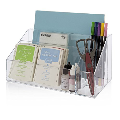 New clear acrylic desktop organizer work home office desk - Acrylic desk organizer set ...
