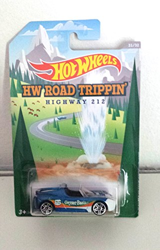 Hot Wheels Hw Road Trippin Highway 212 Tesla Roadster Scale 1:64 31/32, Geyser Basin - 1