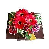 パラボッセオリジナル フラワーアレンジメント コントラスト レッド系 横幅19cmx幅19cmx高さ17cm flower arrangements (赤)
