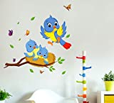 #3: Decals Design Wall Stickers Happy Birds Family Wall Decor For Kids Bedroom Decoration Vinyl (PVC Vinyl, 60 x 45 cm, Multicolor)