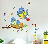 #8: Decals Design Wall Stickers Happy Birds Family Wall Decor For Kids Bedroom Decoration Vinyl (PVC Vinyl, 60 x 45 cm, Multicolor)