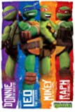 Teenage Mutant Ninja Turtles : Donny, Leo, Mickey et Ralph ! Poster grand format 61 x 91.5 cm