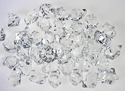 1 pound Clear Acrylic Ice Rocks for Vase Fillers or Table Scatter