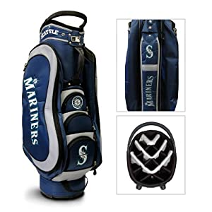 MLB Seattle Mariners Medalist Cart Golf Bag, Navy by Team Golf