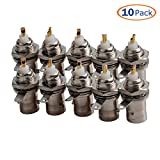 Conwork 10-Pack BNC Female Nut Bulkhead Solder RF Connector Adapters