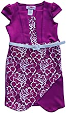 Belted Lace Contrast Dress Set - Toddler amp Girls