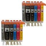 12 XL Color Direct CLI-551XL/ PGI-550XL Ink Cartridges for Canon Pixma IP7150 MG6350 Impresoras 2X Grye Black 2X Black 2X Cyan 2X Magenta 2X Yellow 2X Gris
