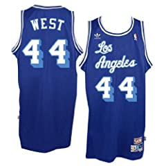 Los Angeles Lakers #44 Jerry West NBA Soul Swingman Jersey, Blue by adidas