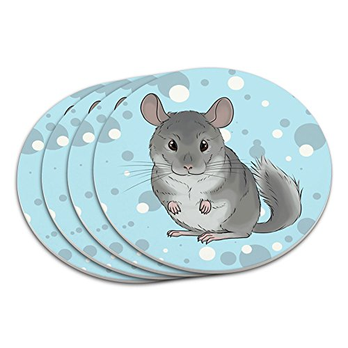 Chinchilla Pet Coaster Set