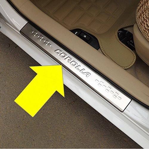 Danti Car Door sill scuff plate Guard Sills for Toyota corolla 2013 2014 2015