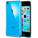 Stylish Slim Thin Transparent Clear Silicone Gel Skin Case & Screen Protector (Apple iPhone 5C)