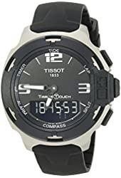 Tissot T0814209705701 T-Race Mens Watch - Black Dial, Rubber Strap