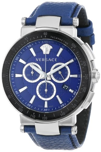 Versace Men's VFG020013 Mystique Sport 46mm Black Ion-Plated Coated Stainless Steel Bezel Chronograph Tachymeter Date Watch