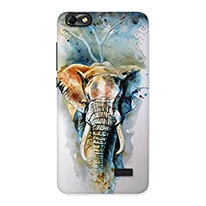 Gorgeous Elephant Art Back Case Cover for Honor 4C