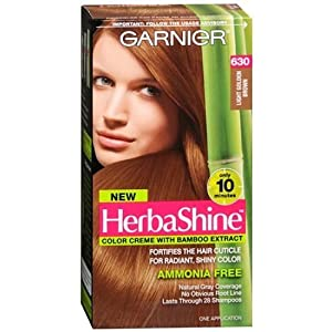 Garnier HerbaShine Color Creme with Bamboo Extract, Light Golden Brown 630 1 ea