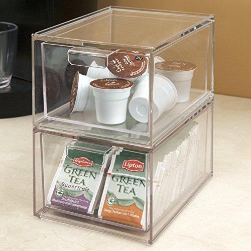2 Pack Stackable Premium Quality Plastic Kitchen Storage