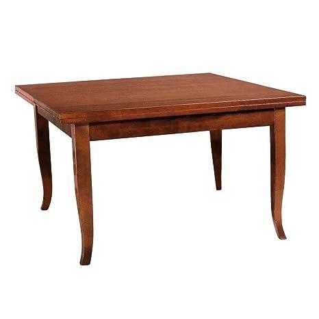 Tavolo in legno massello allungabile 160/240x85cm salone cucina casa VERONA160NO
