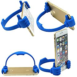 HTH Universal Flexible Portable Mount Cradle Thumb Ok Stand Holder For Mobile Phones & Tablets - PACK OF 2