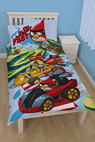 Angry Birds Go Fast Single Duvet Cover Set