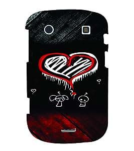 PrintVisa Romantic Love Hearts 3D Hard Polycarbonate Designer Back Case Cover for Blackberry 9900