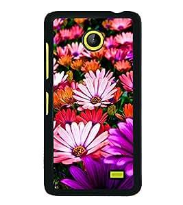 Multi Colour Flowers 2D Hard Polycarbonate Designer Back Case Cover for Nokia X :: Nokia Normandy :: Nokia A110 :: Nokia X Dual SIM RM-980 with dual-SIM card slots
