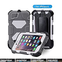 iPhone 6 Case,ACEGUARDER [FULL PROTECTION ] iPhone 6 Case /iPhone 6 Plus Case Armor Defender Hybrid Heavy Duty Hard Cover Shockproof Case (Iphone 6, Gray/White)
