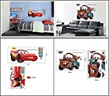 Make it Magical Crafts & Gifts® Disney Pixar Cars (Mater and Lightning McQueen) Large Wall Stickers Decal (Super Double Pack Offer)
