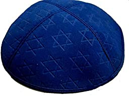 Suede Kippot with Embossed with Star of David Design Kippah, Yarmulkes for Jewish Events