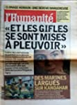 HUMANITE [No 17818] du 27/11/2001 - C...