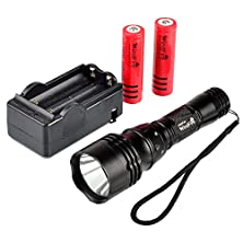 buy Windfire® Cree Xm-L T6 U2 Led 1800Lm 5 Modes Waterproof Scuba Diving Flashlight Underwater Waterproof Submarine Light Lamp Torch 18650 Light Diving Lamp Light With Ac Charger And 2 X Windfire 18650 Rechargeable Batteries For Diving, Swimming Etc..