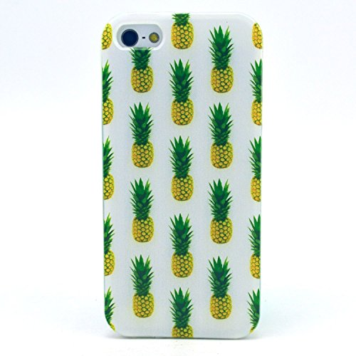 iPhone SE Case, iPhone 5S Case - X-Master® Fashion Style Colorful Painted Colorful TPU Case Back Cover Protector Skin For iPhone SE/5S 4.0 Inch (Pineapple)