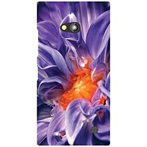 Nokia Lumia 730 Back Cover - Blue Flower Designer Cases