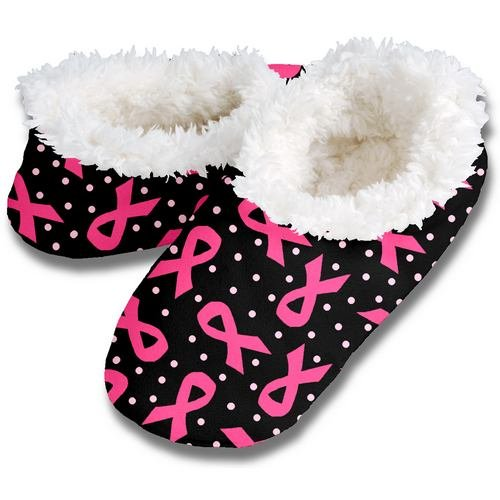 Cheap SNOOZIES PINK RIBBON BLACK FOOT COVERINGS – BREAST CANCER AWARENESS FOOTIE! *SMALL* (100BC-293K Black Small)