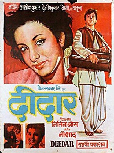 Deedar 1951 Original India Poster Nitin Bose Nargis
