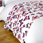 Dreamscene Butterfly Fleece Blanket,...