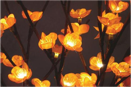 The Light Garden AMFL96 Amber Plum Tree Flower with 96 Lights