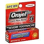 Orajel Oral Pain Relief, for Severe Toothache, Maximum Strength, PM, Cream, 0.25 oz (7 g)