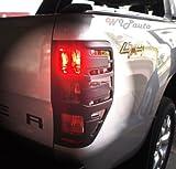 Matte Black Tail Light Lamp Rear Back Cover Trim New Ford Ranger T6 XLT Px Wildtrak 12 13 14